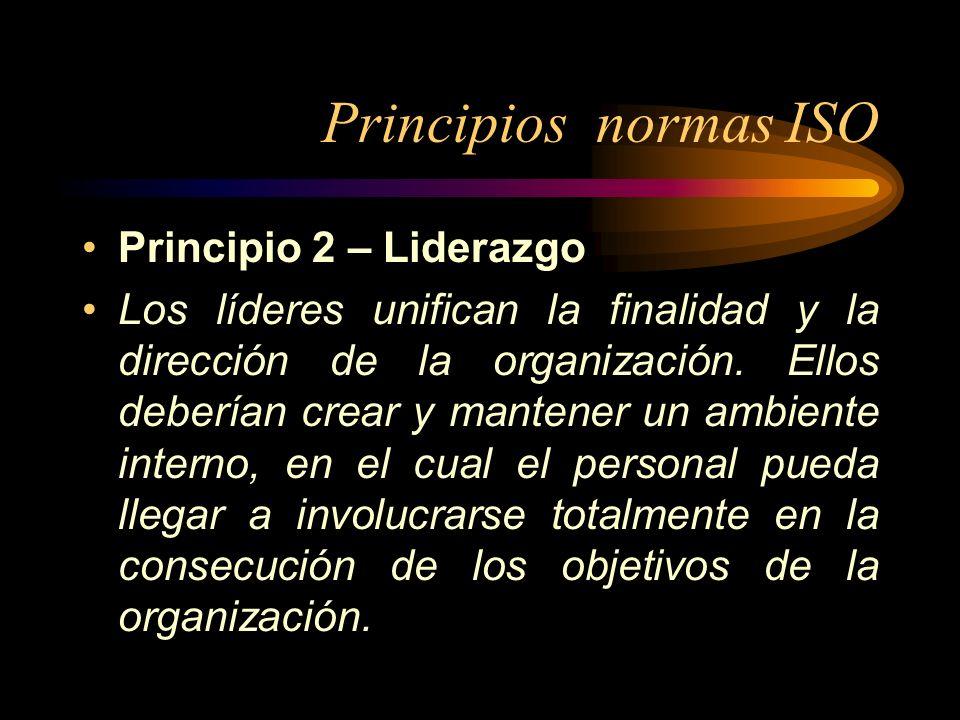 Principios normas ISO Principio 2 – Liderazgo