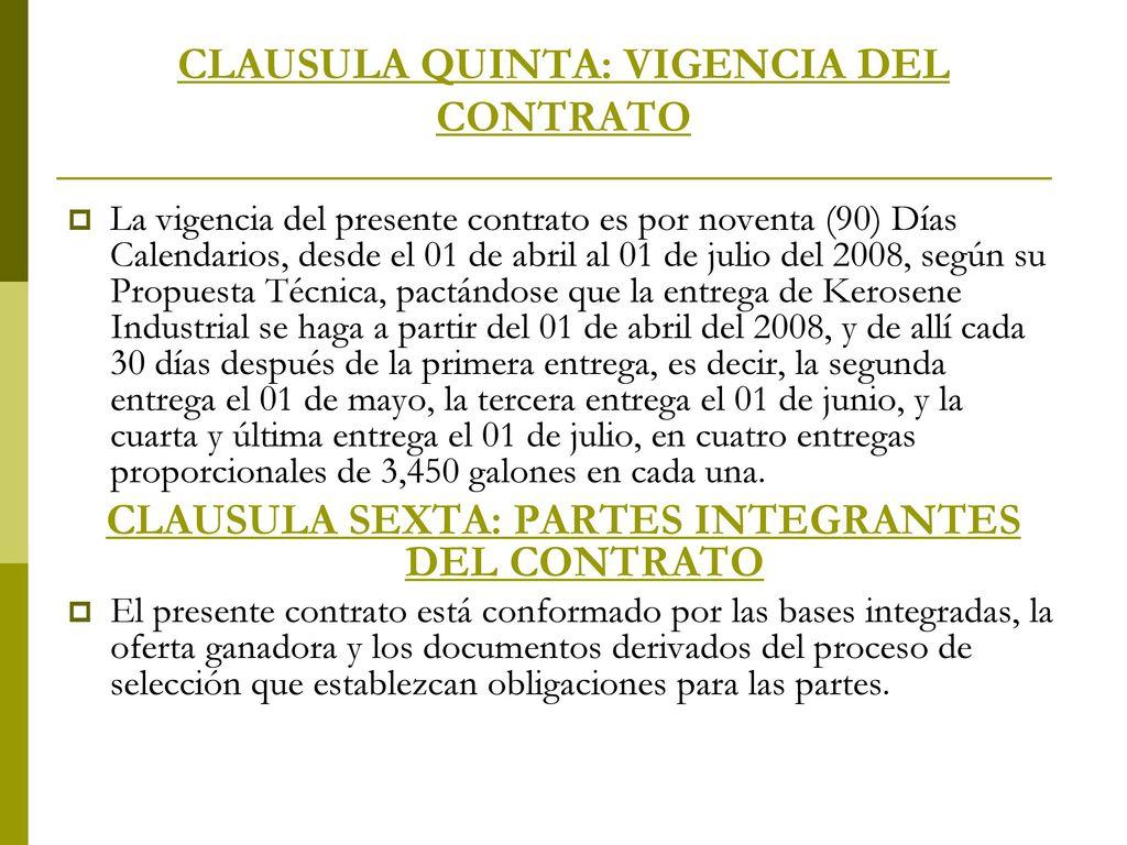 Contrato de suministro ppt descargar for Que es una clausula