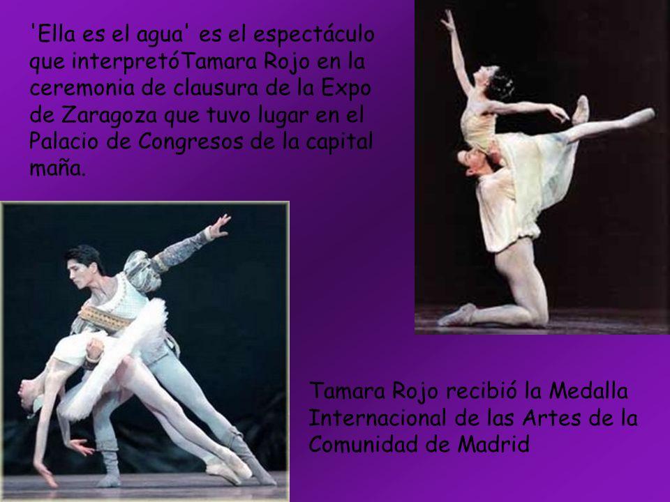 Ella es el agua es el espectáculo que interpretóTamara Rojo en la ceremonia de clausura de la Expo de Zaragoza que tuvo lugar en el Palacio de Congresos de la capital maña.
