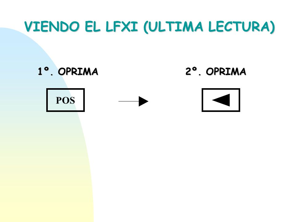 VIENDO EL LFXI (ULTIMA LECTURA)