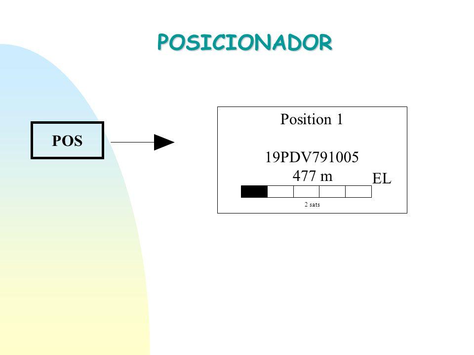 POSICIONADOR Position 1 19PDV791005 477 m 2 sats EL POS