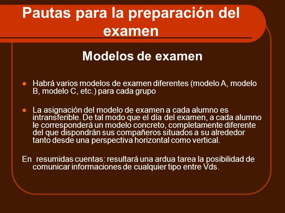 Pautas para la preparación del examen