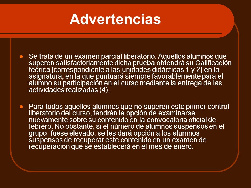 Advertencias