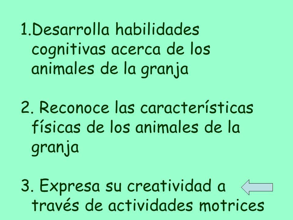 Desarrolla habilidades cognitivas acerca de los animales de la granja