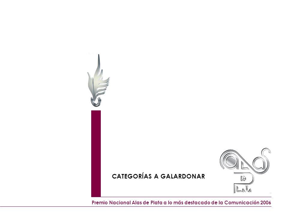 CATEGORÍAS A GALARDONAR