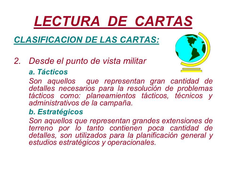 LECTURA DE CARTAS CLASIFICACION DE LAS CARTAS: