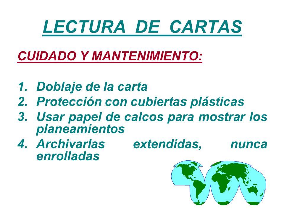 LECTURA DE CARTAS CUIDADO Y MANTENIMIENTO: Doblaje de la carta