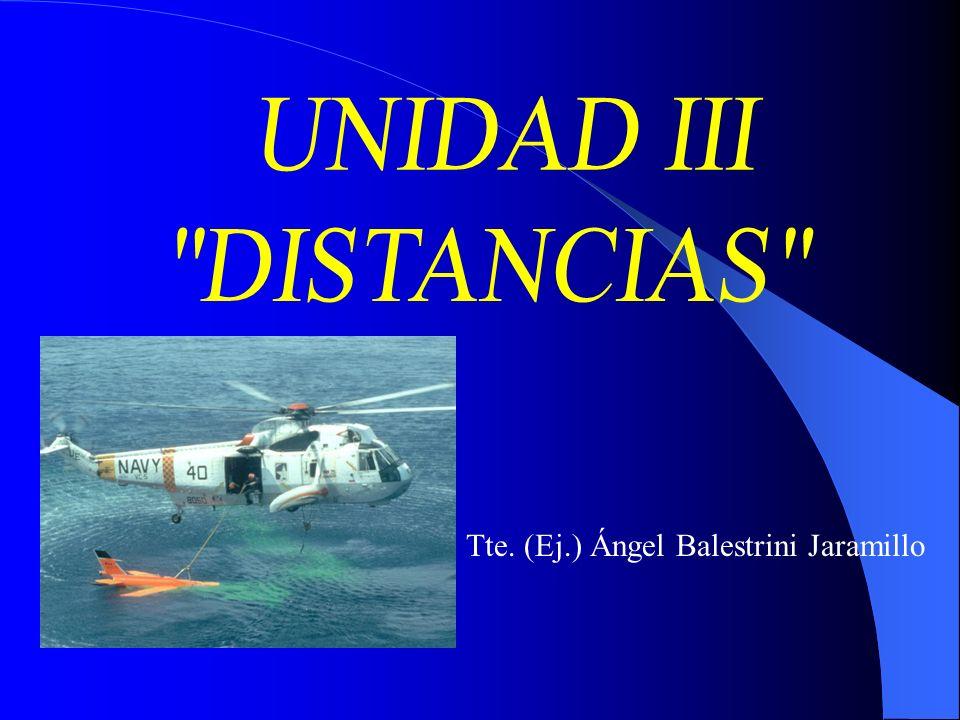 UNIDAD III DISTANCIAS Tte. (Ej.) Ángel Balestrini Jaramillo