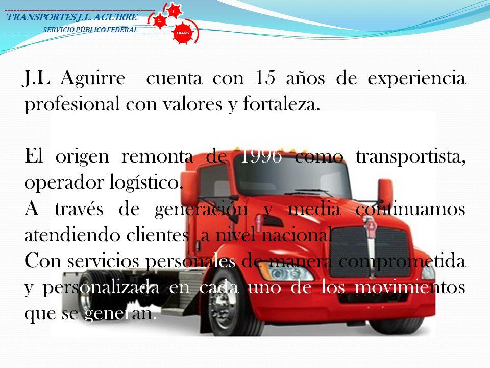 El origen remonta de 1996 como transportista, operador logístico.