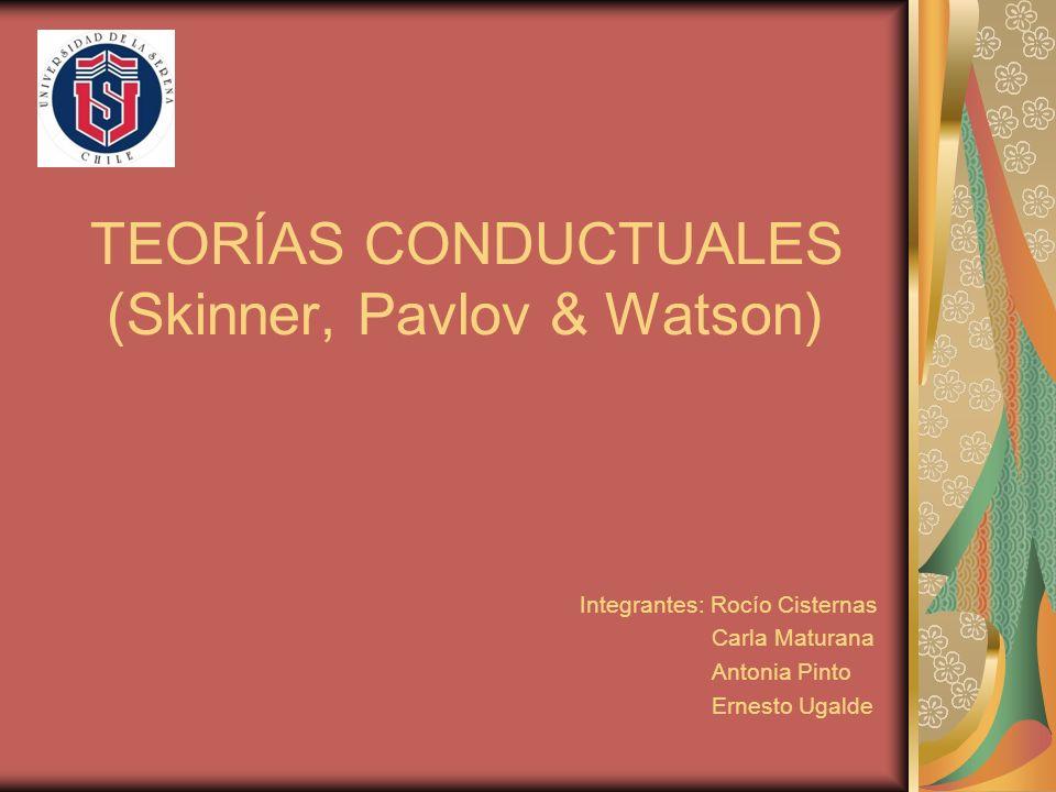 TEORÍAS CONDUCTUALES (Skinner, Pavlov & Watson)