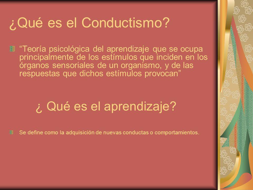 ¿Qué es el Conductismo ¿ Qué es el aprendizaje