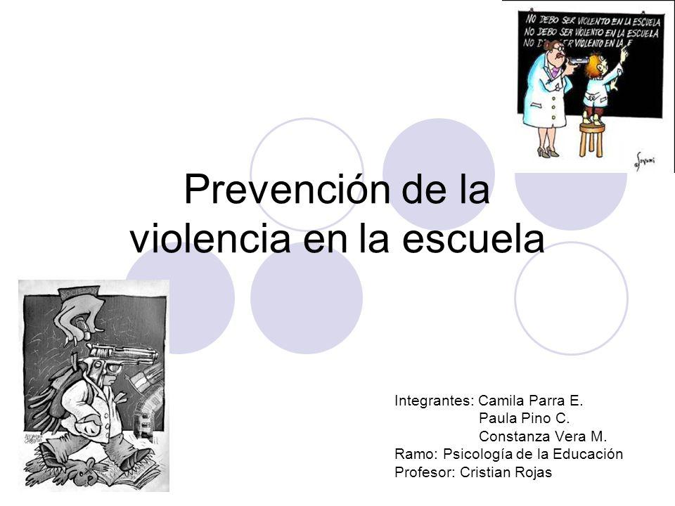 Prevención de la violencia en la escuela