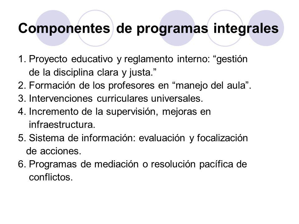 Componentes de programas integrales