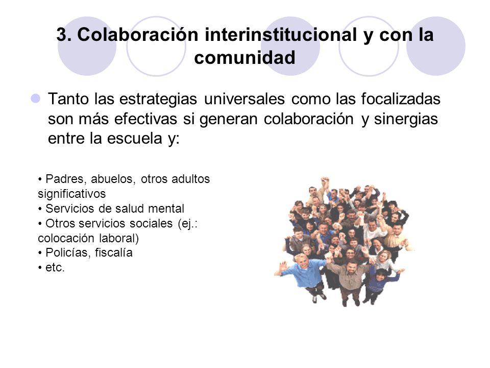 3. Colaboración interinstitucional y con la comunidad