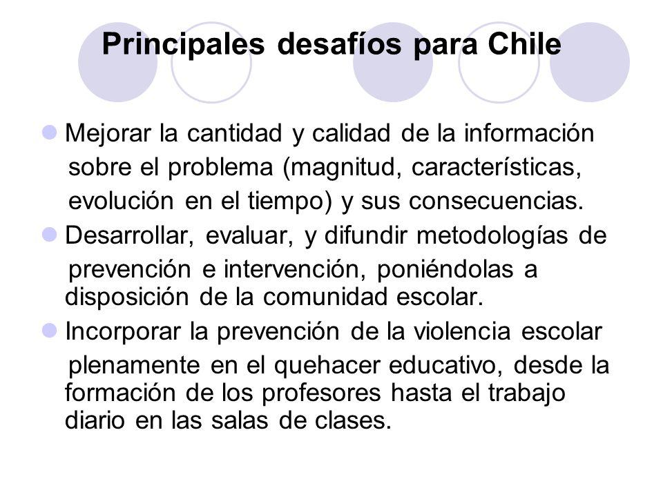 Principales desafíos para Chile