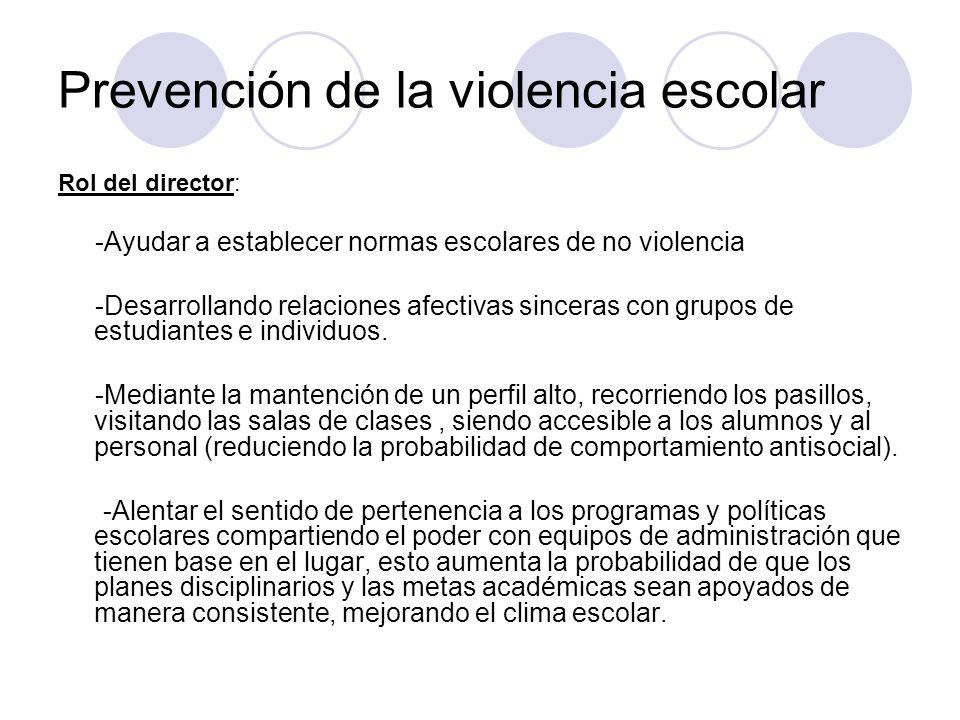 Prevención de la violencia escolar