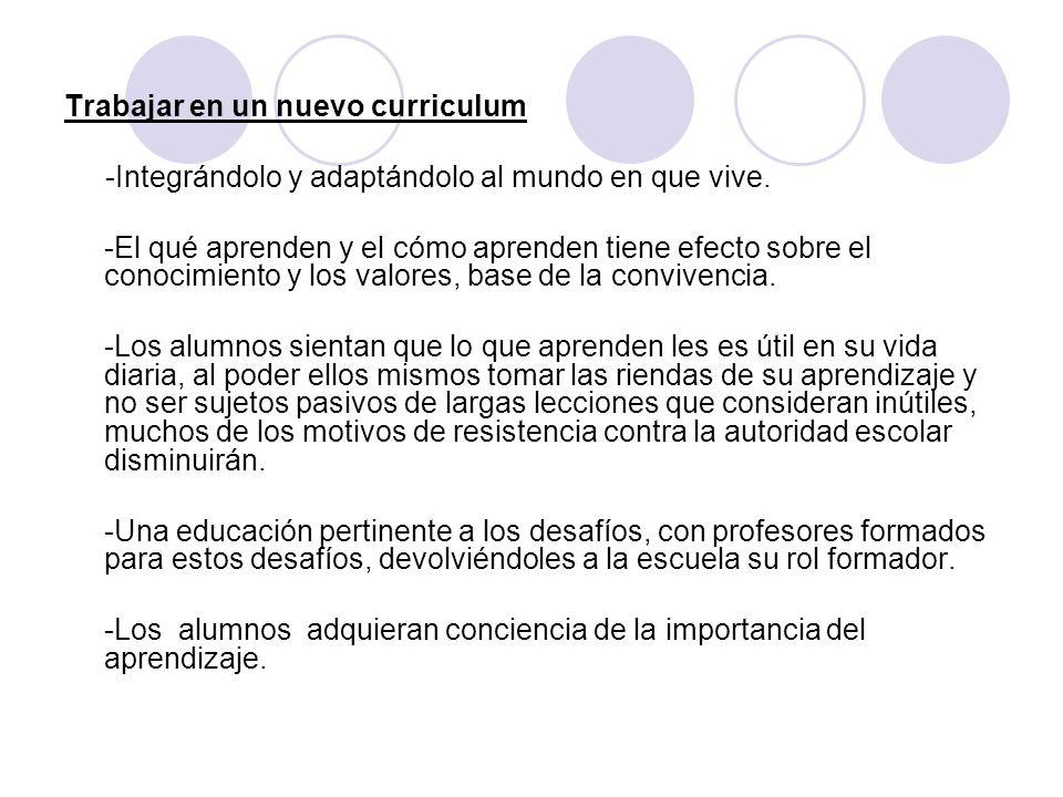 Trabajar en un nuevo curriculum