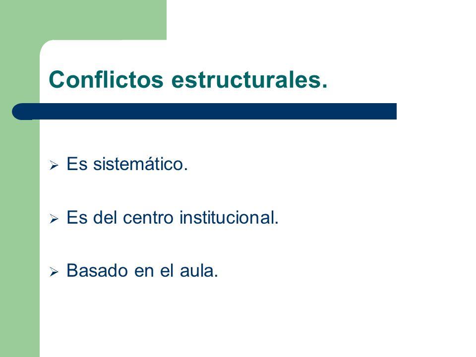 Conflictos estructurales.