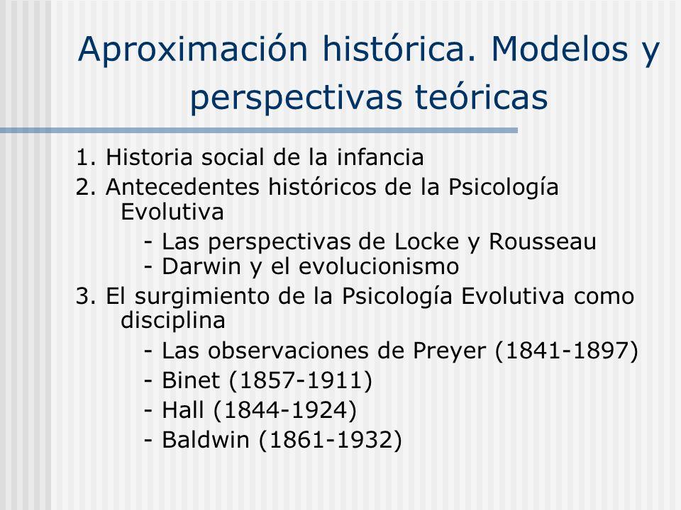 Aproximación histórica. Modelos y perspectivas teóricas