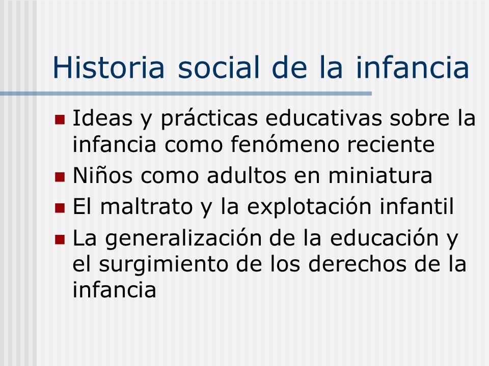 Historia social de la infancia