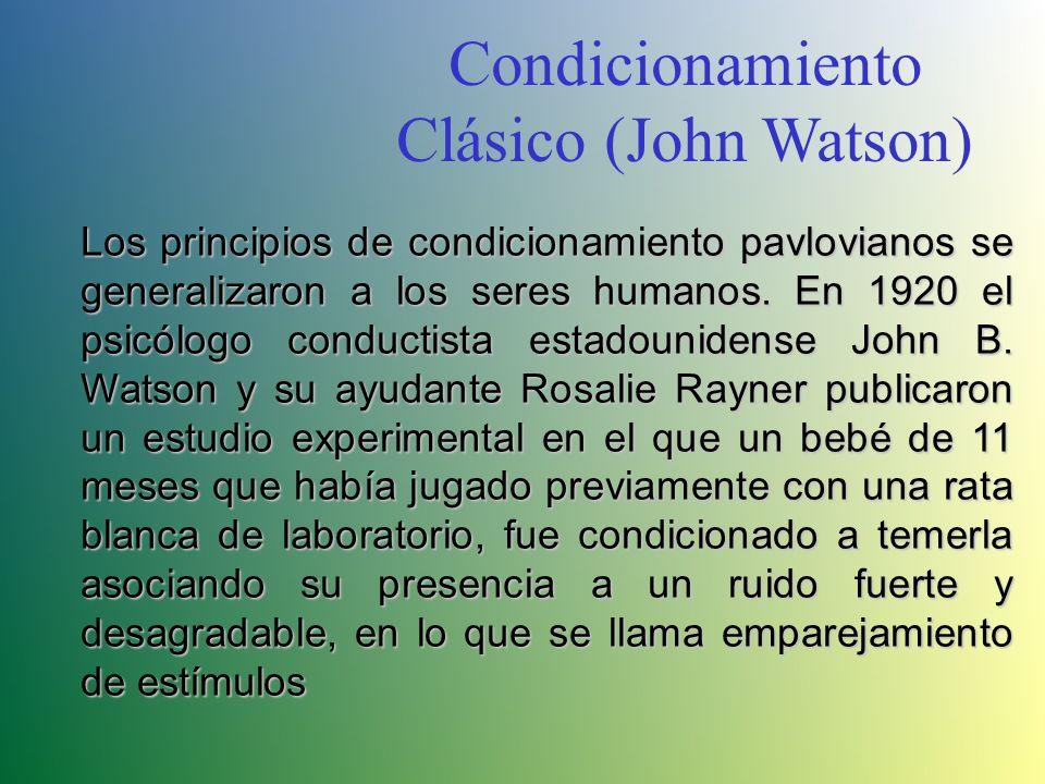Condicionamiento Clásico (John Watson)
