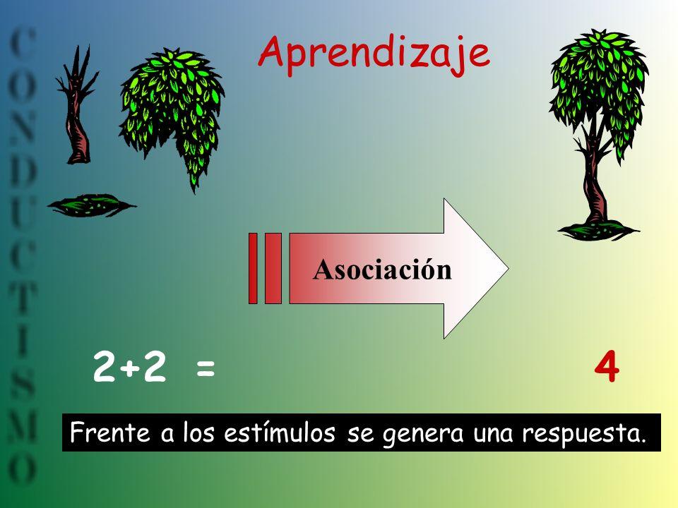 Aprendizaje 2+2 = 4 Asociación