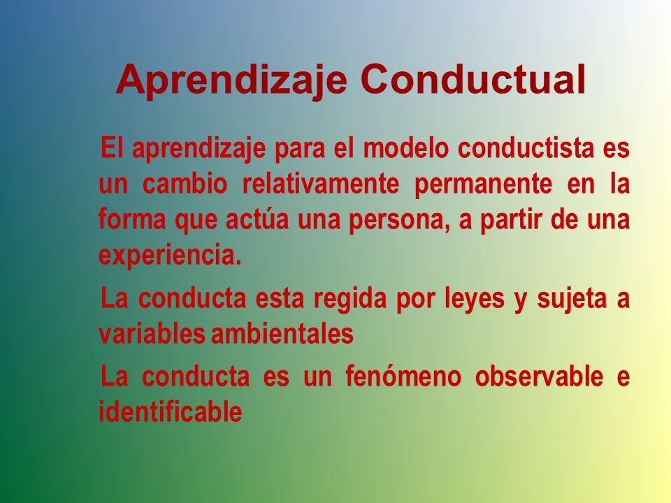 Aprendizaje Conductual