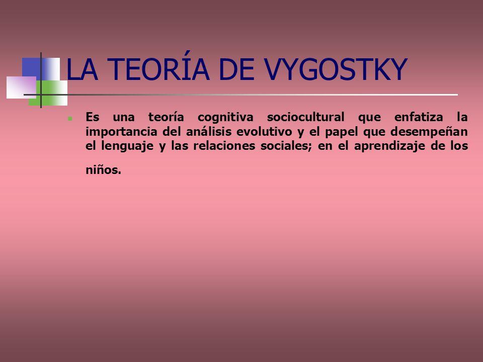 LA TEORÍA DE VYGOSTKY