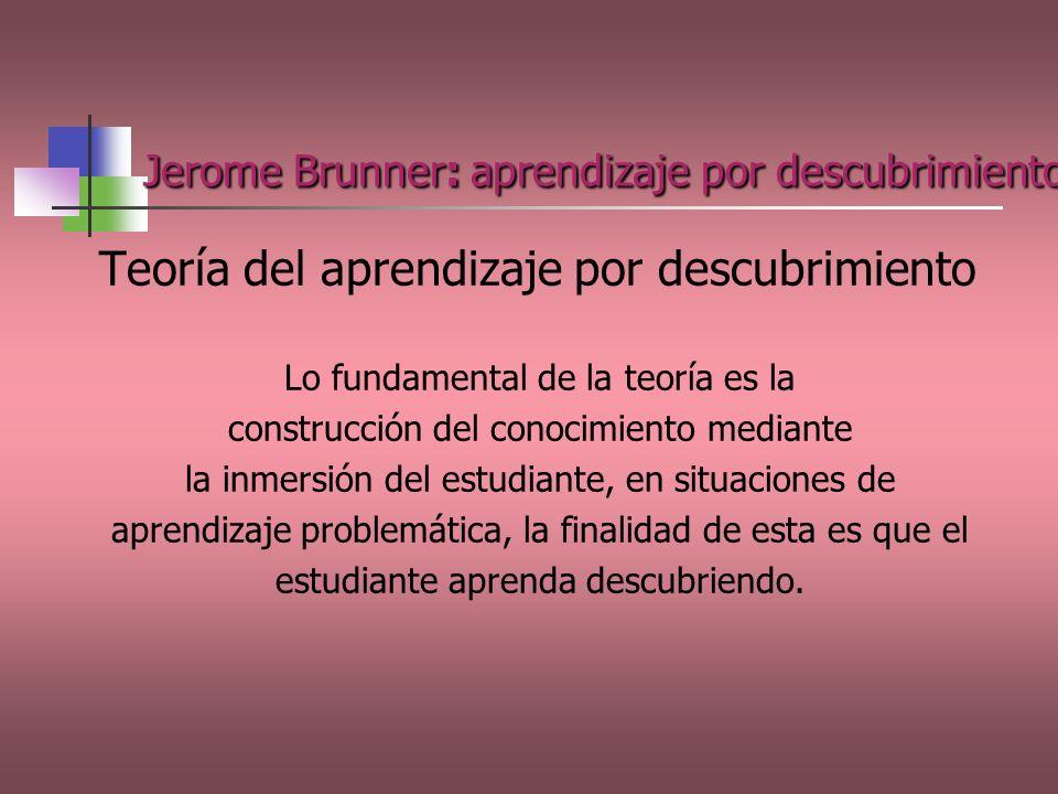Jerome Brunner: aprendizaje por descubrimiento.