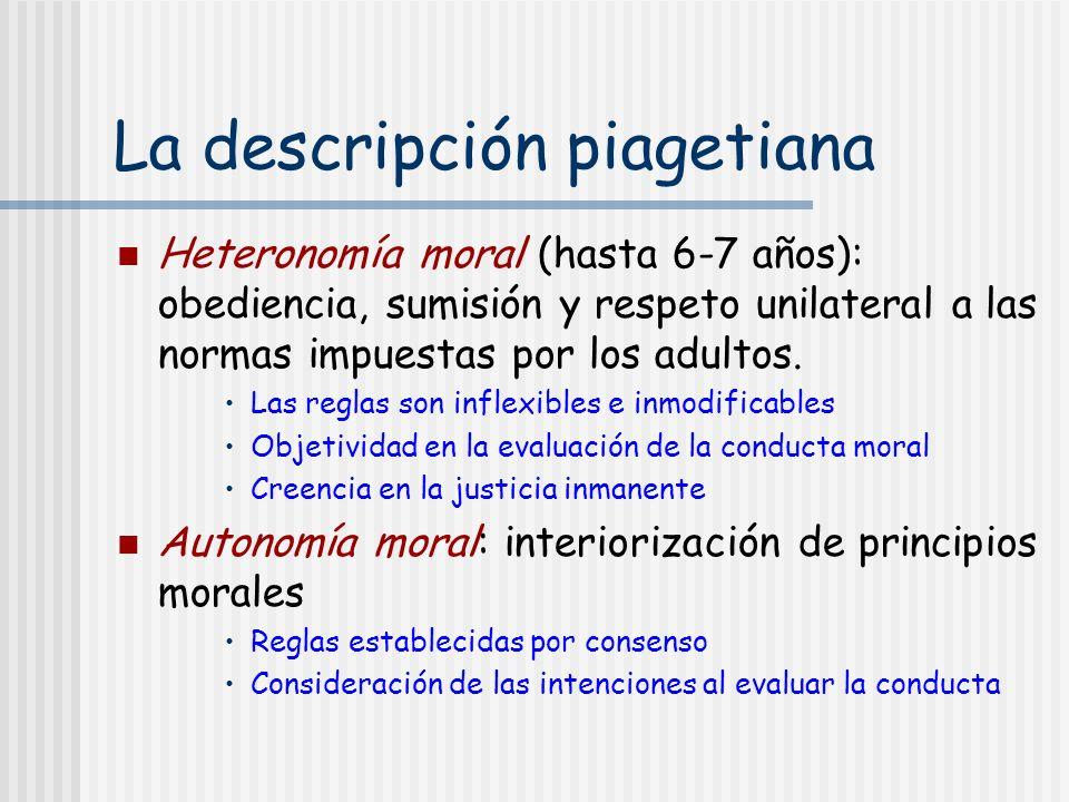 La descripción piagetiana