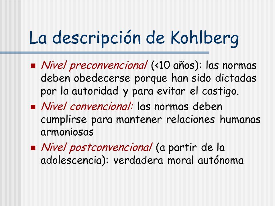 La descripción de Kohlberg