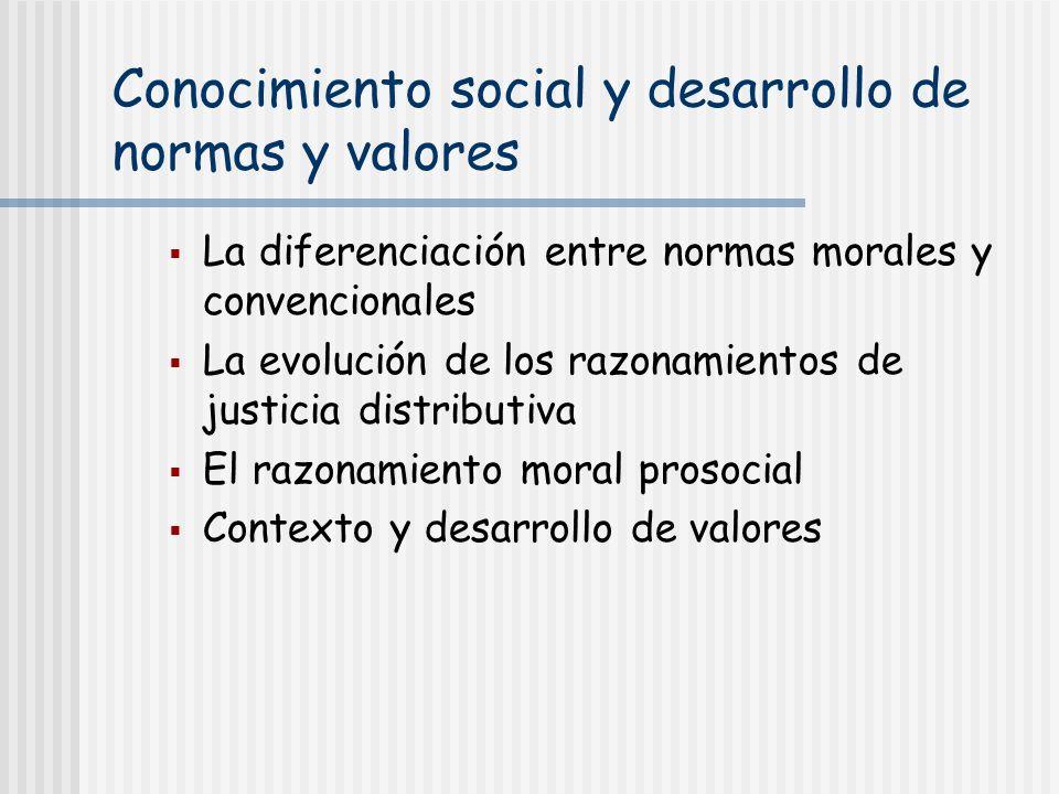 Conocimiento social y desarrollo de normas y valores