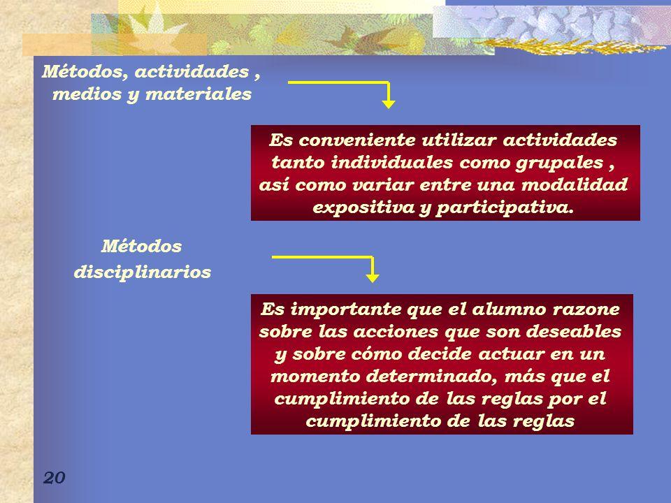 Es conveniente utilizar actividades tanto individuales como grupales ,