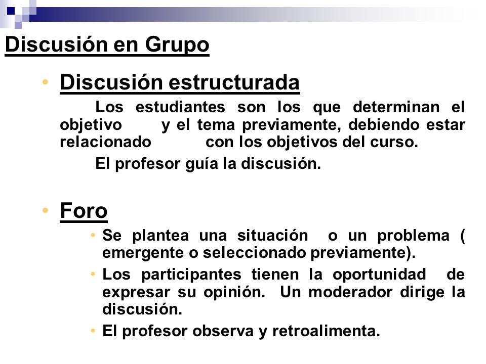Discusión estructurada