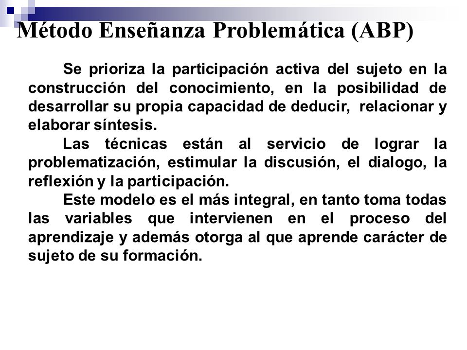 Método Enseñanza Problemática (ABP)