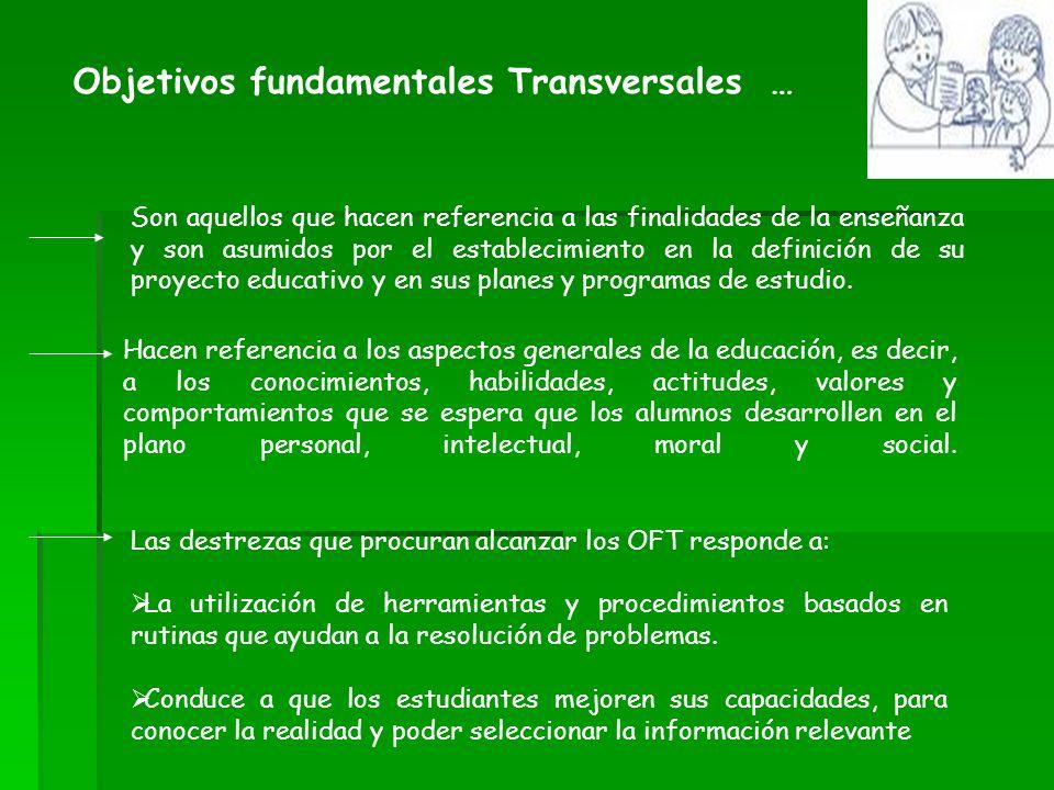 Objetivos fundamentales Transversales …