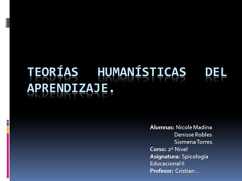 teorías Humanísticas del Aprendizaje.