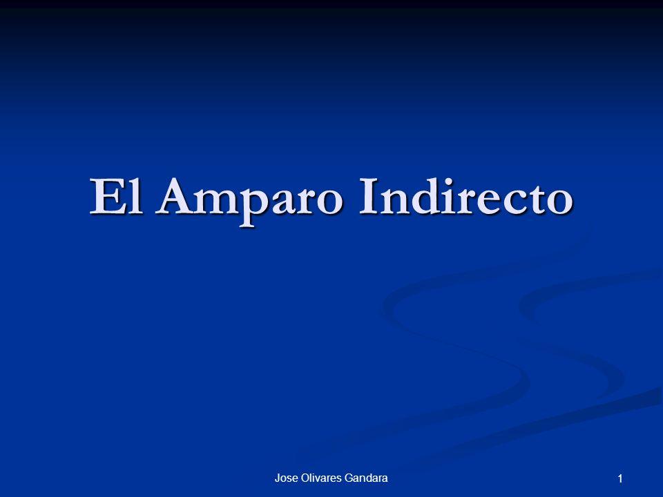 El Amparo Indirecto Jose Olivares Gandara