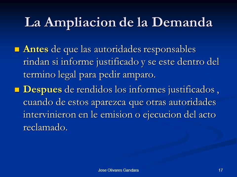 La Ampliacion de la Demanda