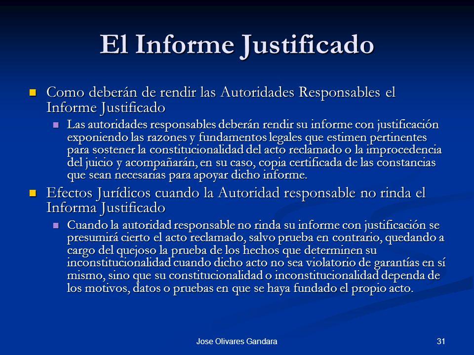 El Informe Justificado