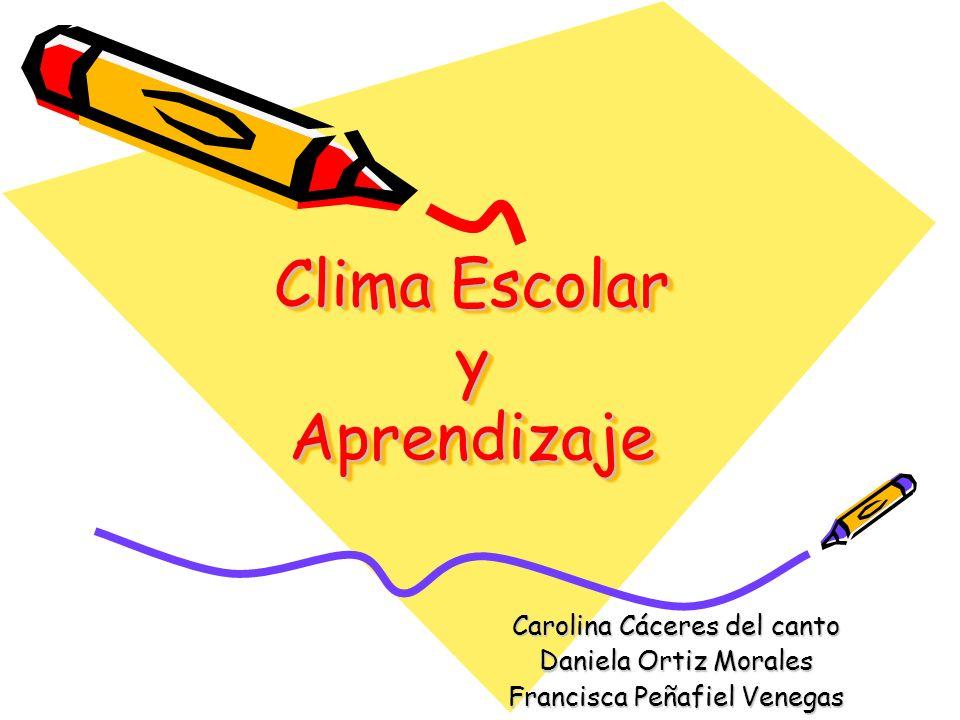 Clima Escolar y Aprendizaje