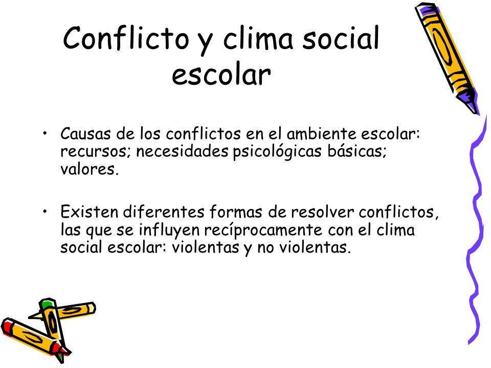 Conflicto y clima social escolar