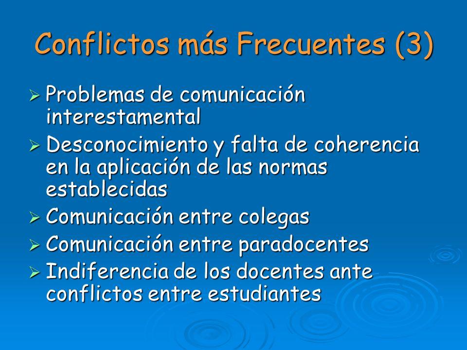 Conflictos más Frecuentes (3)