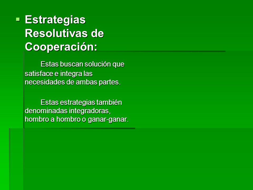 Estrategias Resolutivas de Cooperación: