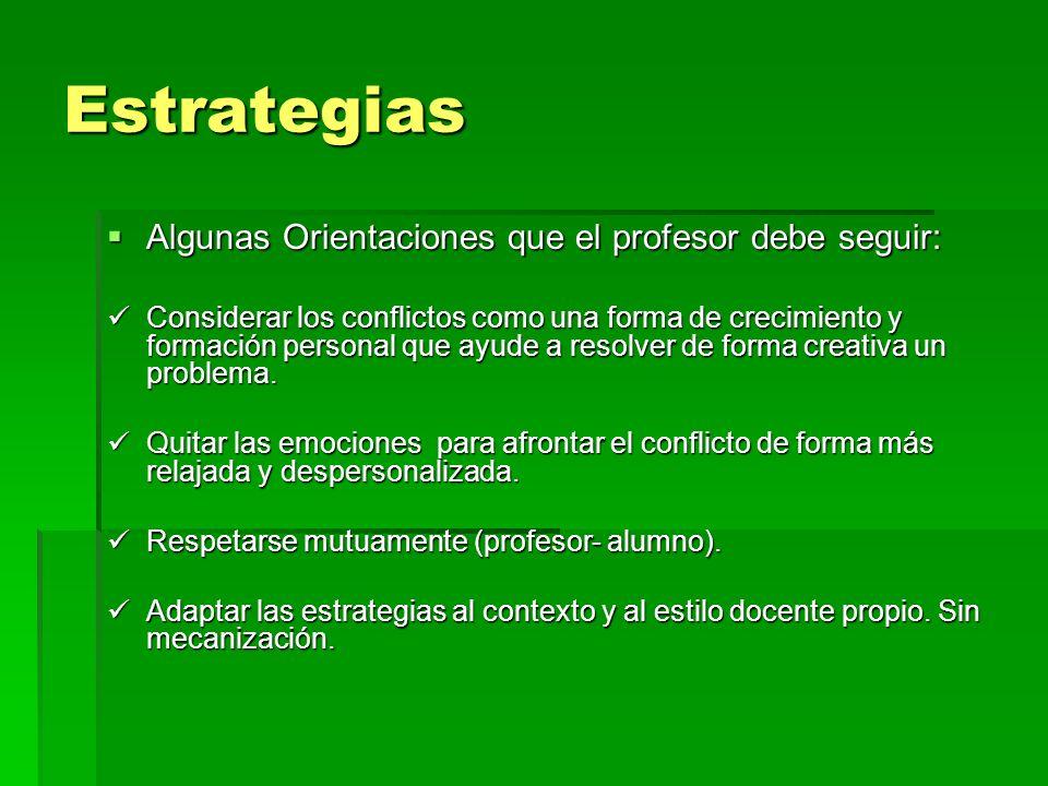 Estrategias Algunas Orientaciones que el profesor debe seguir:
