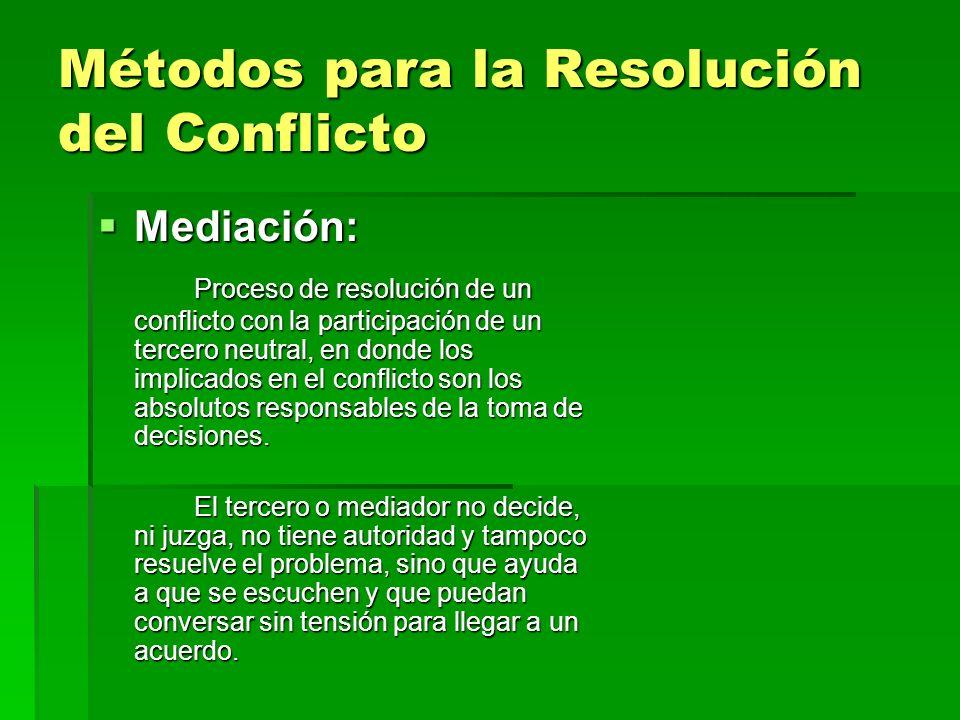 Métodos para la Resolución del Conflicto