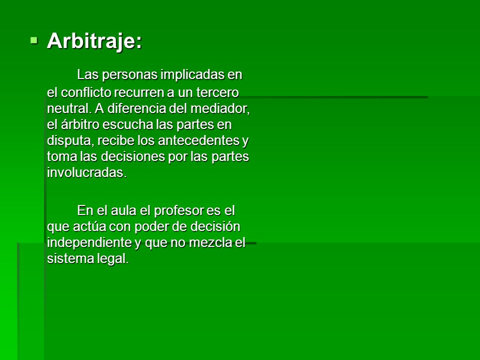 Arbitraje: