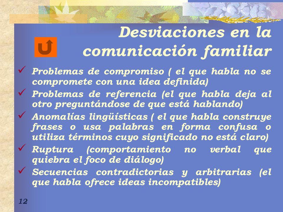 Desviaciones en la comunicación familiar