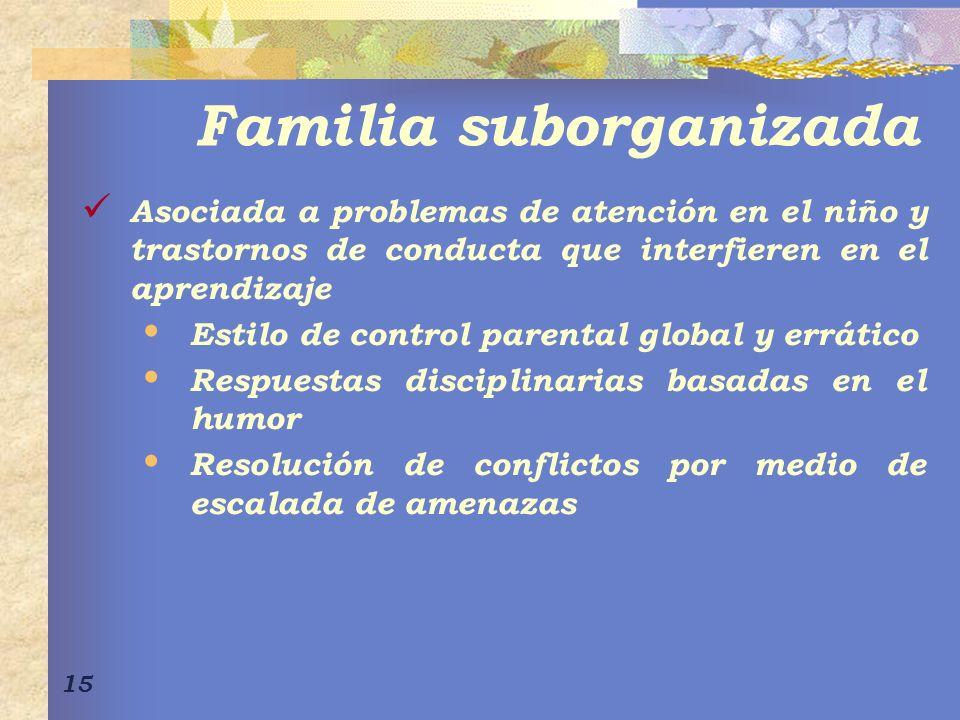 Familia suborganizada