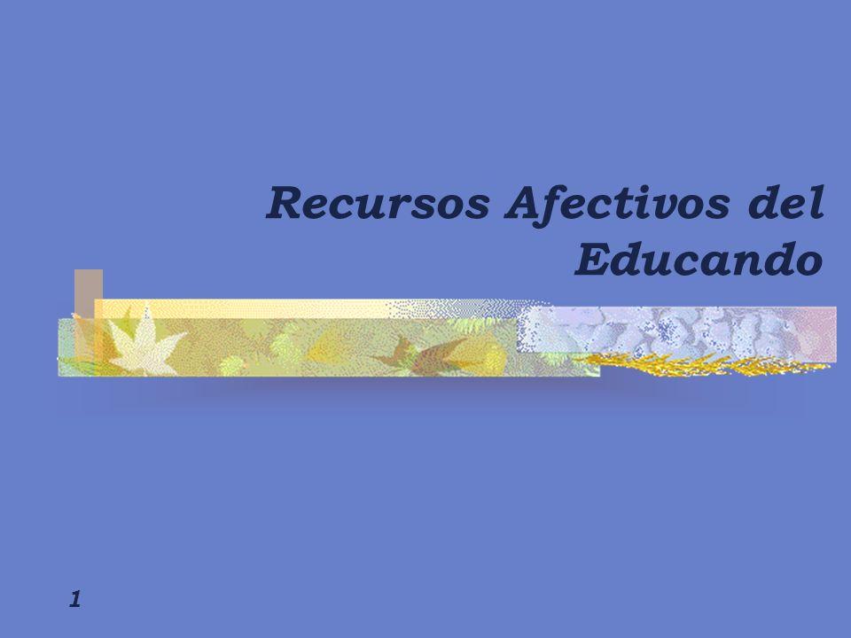 Recursos Afectivos del Educando